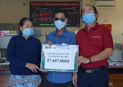 Bạn đọc tiếp tục ủng hộ người đàn ông mù 47 triệu đồng chữa bệnh cho con